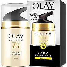 Profumi e cosmetici Crema idratante da giorno SPF 30 - Olay Total Effects Anti-Edad Hidratante SPF30