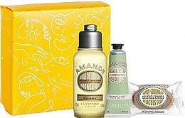 Profumi e cosmetici Set - L'Occitane Almond (sh/oil/75ml + h/cr/30ml + soap/50g + box)