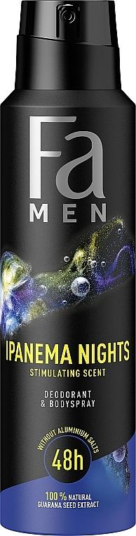 "Deodorante spray per uomo ""Ritmi del Brasile. Ipanema Nights"" - Fa Men — foto N1"