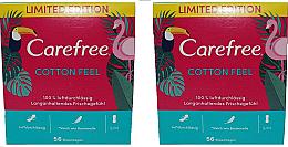 Profumi e cosmetici Assorbenti quotidiani igienici 2X56pz - Carefree Cotton Feel