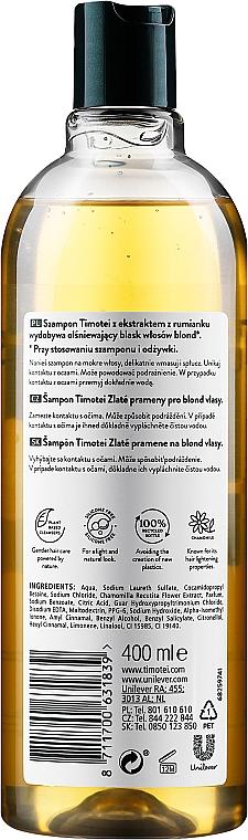 """Shampoo-condizionante """"Rosa di Gerico con camomilla"""" - Timotei Golden Highlights Shampoo  — фото N2"""