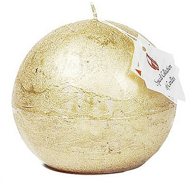 Candela naturale, palla, 8 cm - Ringa Golden Glow Candle — foto N1