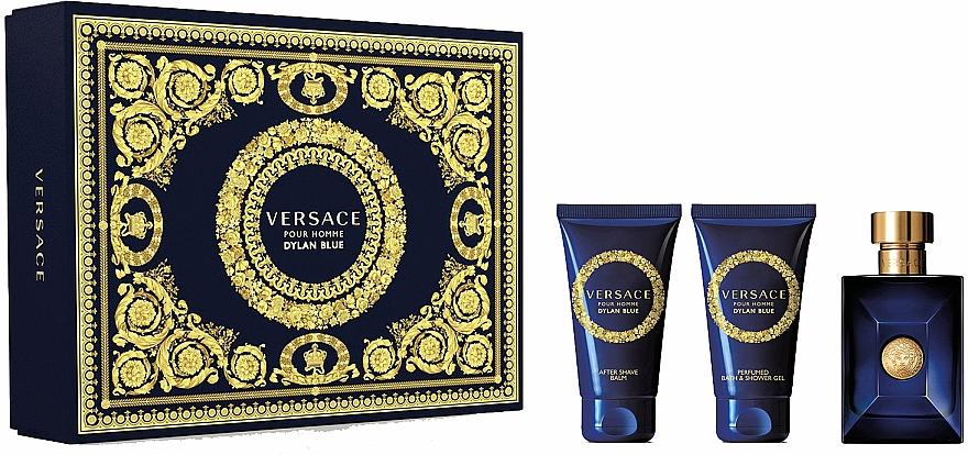 Versace Dylan Blue Pour Homme - Set (edt/50ml + sh/gel/50ml + a/sh/balm/50ml)