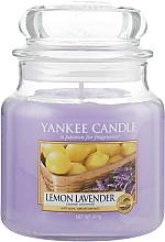 "Profumi e cosmetici Candela profumata in vetro ""Limone Lavanda"" - Yankee Candle Lemon Lavender"