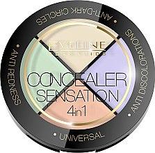 Profumi e cosmetici Palette correttori viso - Eveline Cosmetics Concealer Sensation 4in1