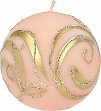 Profumi e cosmetici Candela decorativa, palla, rosa con decorazione, 8 cm - Artman Christmas Ornament