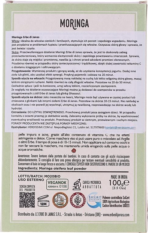 """Polvere cosmetica """"Moringa"""" - Le Erbe di Janas Moringa — foto N3"""