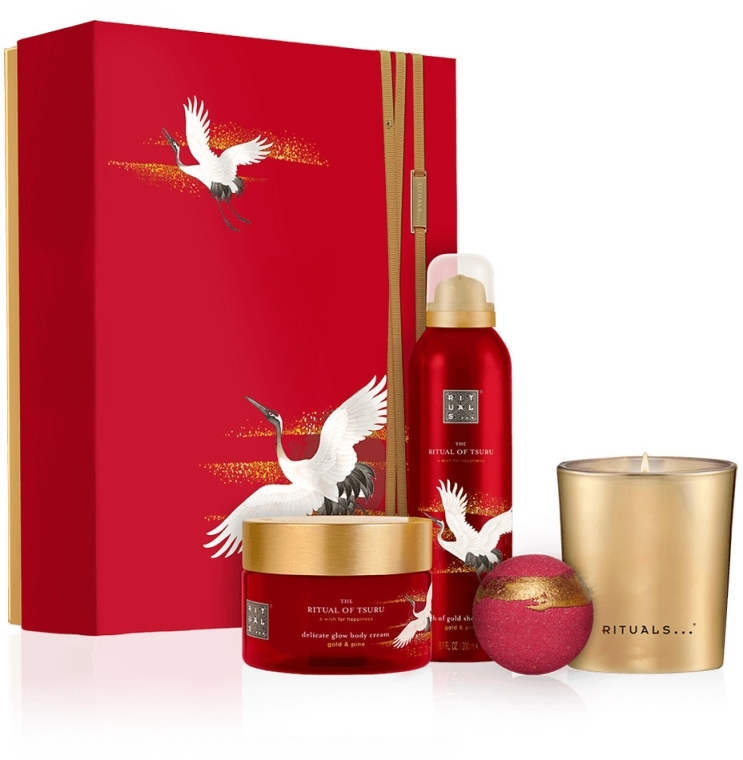 Set - Rituals The Ritual of Tsuru (sg/gel/200ml + b/cr/200ml + bath/bomb/100g + candle/290g) — foto N1