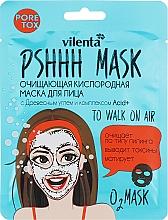 Profumi e cosmetici Maschera viso purificante all'ossigeno con carbone e complesso Acid + - Vilenta Pshhh Mask