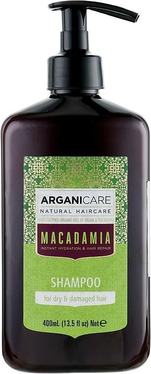 Shampoo per capelli secchi e danneggiati - Arganicare Macadamia Shampoo