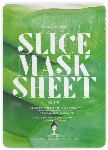 "Maschera viso ""Aloe Vera"" - Kocostar Slice Mask Sheet Aloe — foto N1"