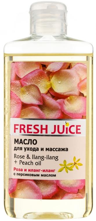 """Olio per la cura e il massaggio """"Rosa e Ylang-Ylang + olio di pesca"""" - Fresh Juice Energy Rose&Ilang-Ilang+Peach Oil"""