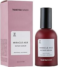 Profumi e cosmetici Siero schiarente rivitalizzante antirughe - Thank You Farmer Miracle Age Serum