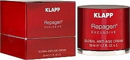 Profumi e cosmetici Clip per rimuovere lo smalto gel, blu - Klapp Repagen Exclusive Global Anti-Age Cream