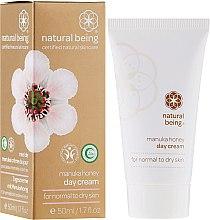Profumi e cosmetici Crema viso, per pelli normali e secche - Natural Being Manuka Honey Day Cream