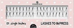 Profumi e cosmetici Ciglia finte - Essence Lashes To Impress 01 Single Lashes