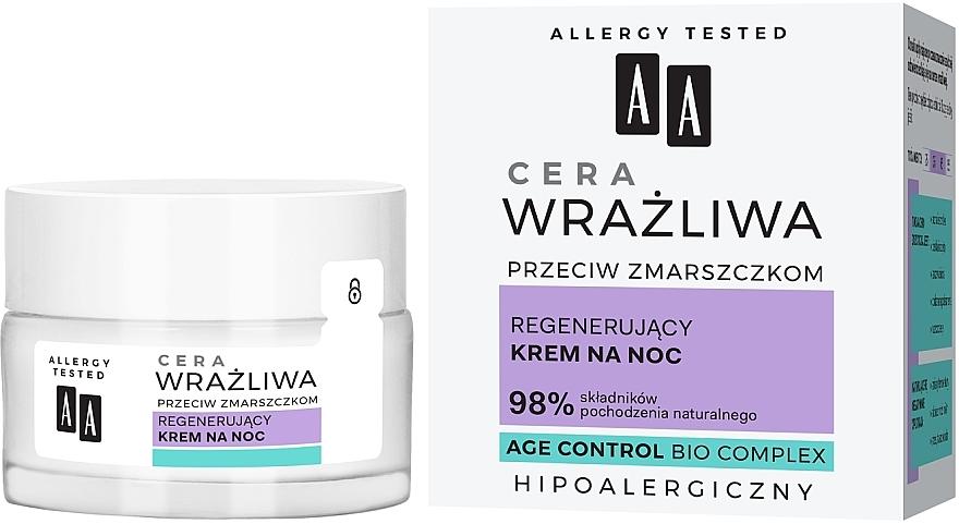 Crema rigenerante per pelli sensibili - AA Regenerating Night Cream
