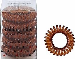 Profumi e cosmetici Elastici per capelli, trasparente-marrone - Rolling Hills 5 Traceless Hair Rings Coffee