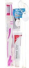 Profumi e cosmetici Set da viaggio per igiene orale, rosa - White Glo Travel Pack (t/paste/24g + t/brush/1 + t/pick/8)