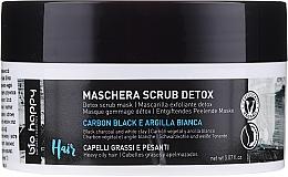 Profumi e cosmetici Maschera-scrub per capelli - Bio Happy Carbon Black & White Clay Scrub Mask