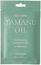 Profumi e cosmetici Maschera per il cuoio capelluto lenitiva con olio di tamanu e ribes nero - Rated Green Cold Press Tamanu Oil Soothing Scalp Pack