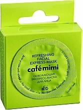 Profumi e cosmetici Maschera express viso rinfrescante con estratto di bambù per pelli stanche - Cafe Mimi Refreshing Facial Express-Mask