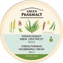 "Profumi e cosmetici Crema viso ""Aloe"" - Green Pharmacy Strengthening Nourishing Cream"