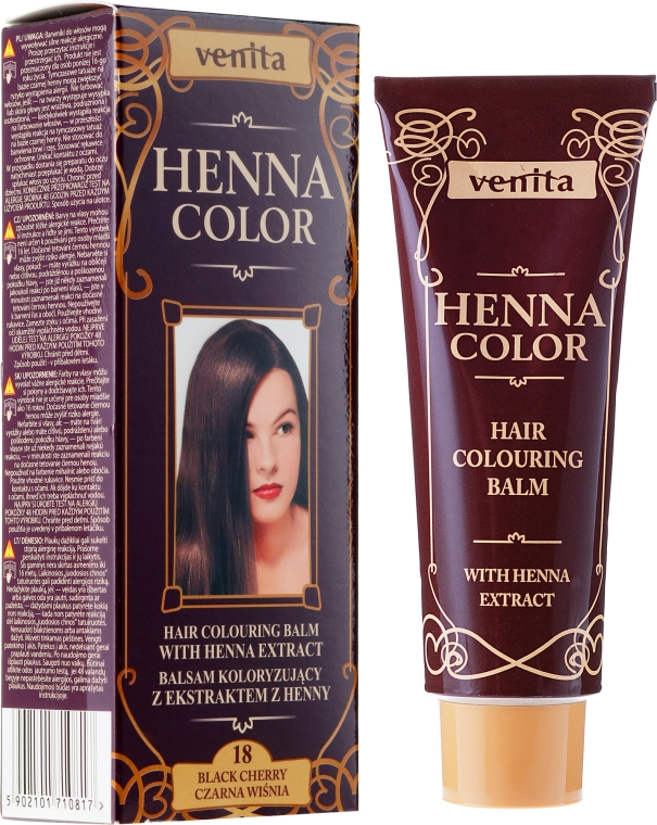 Balsamo colorante per capelli con estratto di henné - Venita Henna Color