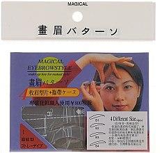 Profumi e cosmetici Stencil per sopracciglia, B1, B2, B3, B4 - Magical Eyebrow Style