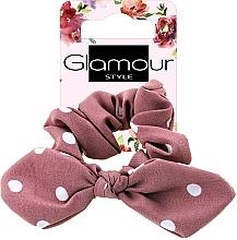 Profumi e cosmetici Elastico per capelli, 417611, rosa scuro a pois - Glamour