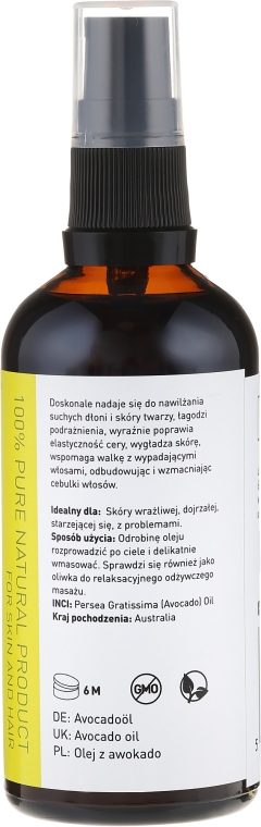 "Olio cosmetico ""Avocado"" - Nature Queen Avocado Oil — foto N4"