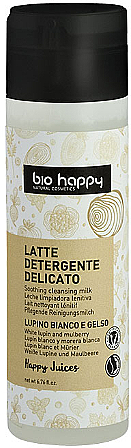 "Latte detergente viso ""Lupino bianco e gelso"" - Bio Happy Face Milk Cleanser"