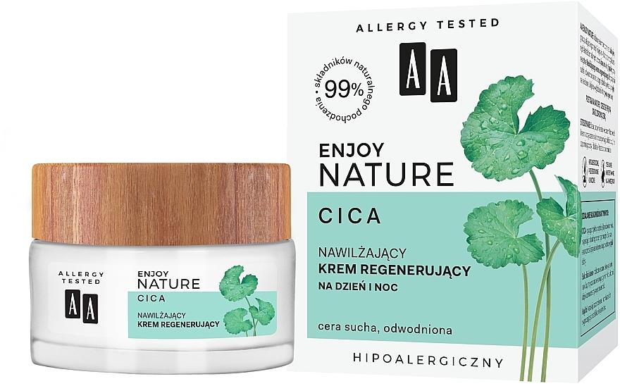 Crema viso idratante e rivitalizzante - AA Enjoy Nature Cica Moisturising Regenerating Cream