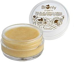 Profumi e cosmetici Mousse labbra al miele e semi di papavero - BIOnly Organic Lip Mousse Honey & Poppy