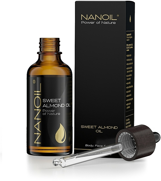 Olio di mandorle - Nanoil Body Face and Hair Sweet Almond Oil — foto N4