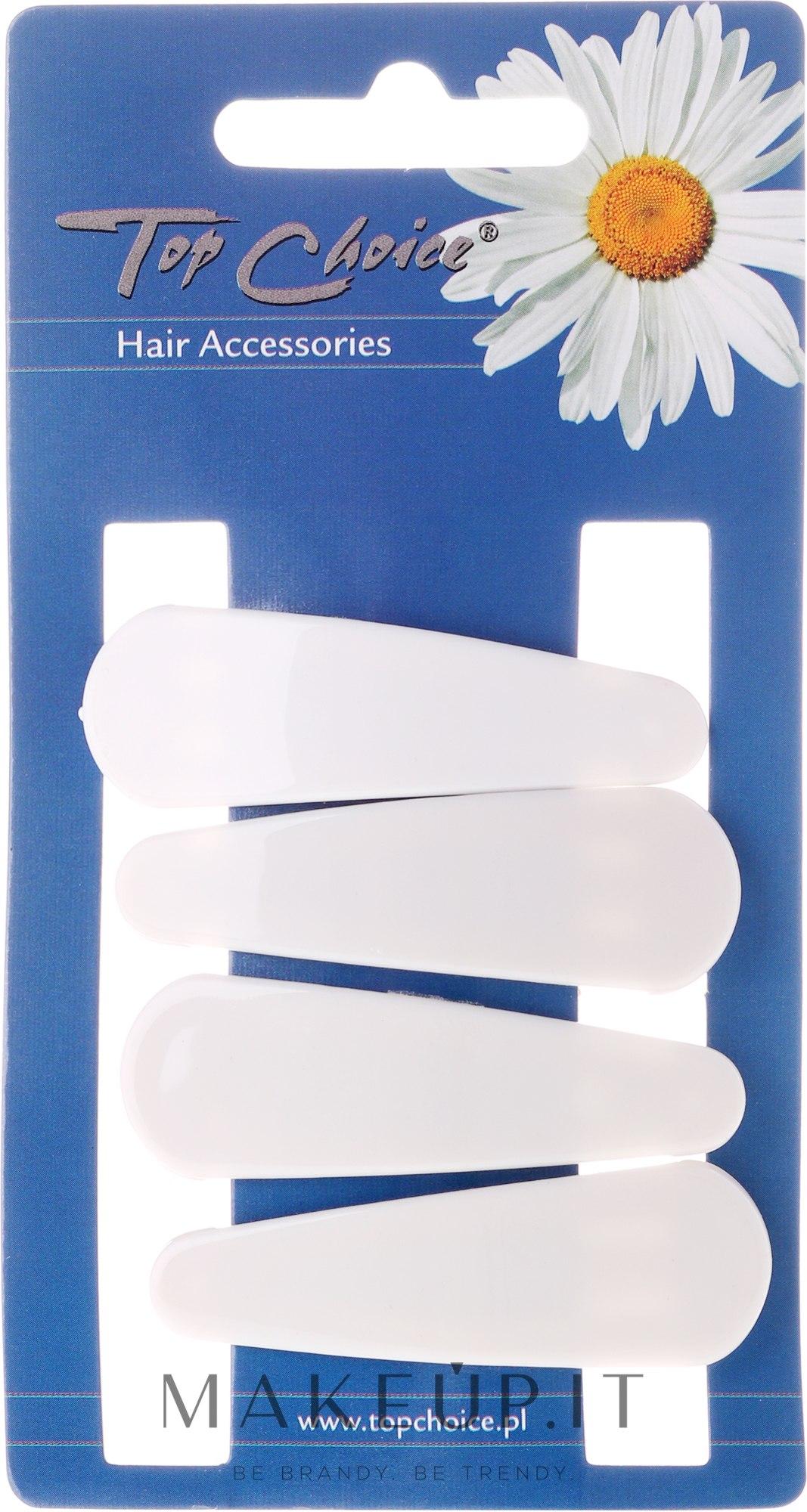 "Fermacapelli ""White Collection"", bianco, 4 pz - Top Choice — foto 4 pz."