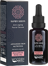 Profumi e cosmetici Siero viso - Wooden Spoon Super Seeds Bulgarian Rose Oil Anti-aging Facial Serum