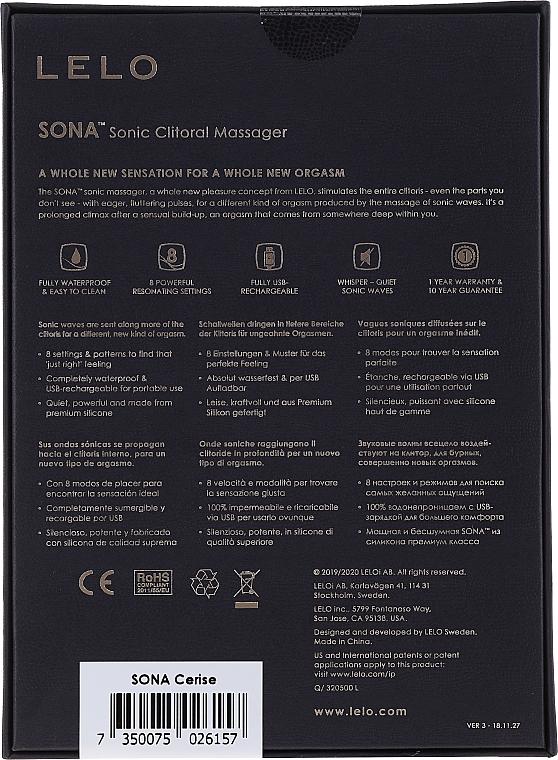 Vibratore, rosa ciliegia - Lelo Sona Sonic Clitoral Massager — foto N2