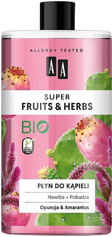"""Bagnoschiuma """"Opuntia e amaranto"""" - AA Super Fruits & Herbs Bath Foam — foto N1"""