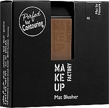 Profumi e cosmetici Blush opaco - Make Up Factory Mat Blusher