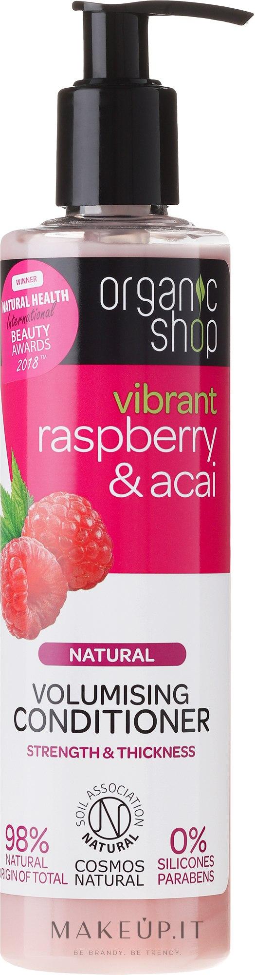 """Condizionante capelli """"Lampone e bacche di acai"""" - Organic Shop Raspberry And Acai Conditioner — foto 280 ml"""