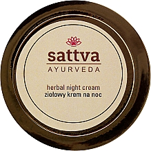 Profumi e cosmetici Crema viso da notte - Sattva Ayurveda Herbal Night Cream