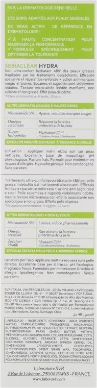 Crema idratante per la pelle grassa - SVR Sebiaclear Hydra — foto N3