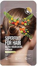 Profumi e cosmetici Maschera capelli ultra nutriente con estratto di oliva - Superfood For Skin Hair Mask With Olive Cloth