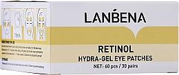 Profumi e cosmetici Patch in idrogel ringiovanenti con retinolo e collagene - Lanbena Retinol Collagen Hydra-Gel Eye Patch