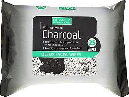 Profumi e cosmetici Salviette detergenti viso - Beauty Formulas Charcoal Detox Facical Wipes