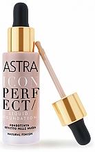 Profumi e cosmetici Fondotinta liquido - Astra Make-Up Icon Perfect Liquid Foundation