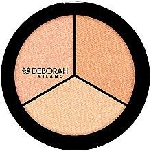 "Profumi e cosmetici Illuminante viso ""Trio"" - Deborah Highlighter Trio Palette"