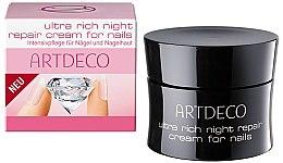 Profumi e cosmetici Crema rigenerante per cuticole e unghie - Artdeco Ultra Rich Night Repair Cream For Nails