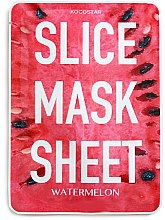 "Profumi e cosmetici Maschera viso ""Anguria"" - Kocostar Slice Mask Sheet Watermelon"